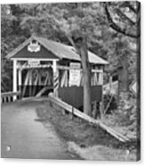 Somerset One Lane Bridge Black And White Acrylic Print