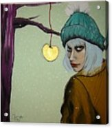 Sometimes A Girl Just Wants A Little Bite Of The Golden Apple Acrylic Print