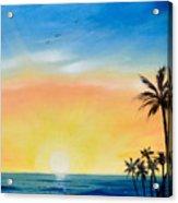 Sometimes I Wonder - Vertical Sunset Acrylic Print