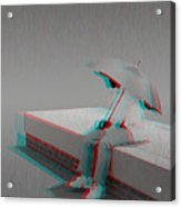 Somewhere It's Raining - Use Red-cyan 3d Glasses Acrylic Print