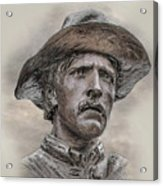 Son Of The Confederacy Portrait Acrylic Print by Randy Steele