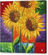 Sonflowers I Acrylic Print