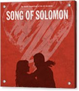 Song Of Solomon Books Of The Bible Series Old Testament Minimal Poster Art Number 22 Acrylic Print