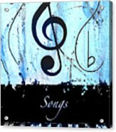 Songs - Blue Acrylic Print