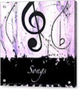Songs - Purple Acrylic Print