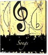 Songs - Yellow Acrylic Print
