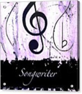 Songwriter - Purple Acrylic Print