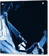 Sonic Blue Guitar Explosions Acrylic Print