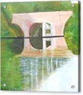 Sonning Bridge In Autumn Acrylic Print