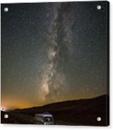 Sonora The Vw Bus Under The Milky Way Acrylic Print