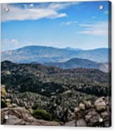 Sonoran Cliff Lookout Acrylic Print
