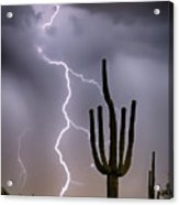 Sonoran Desert Monsoon Storming Acrylic Print