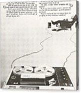 Sony Vintage Advert Acrylic Print