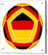 Soocer Ball With Germany Flag Acrylic Print