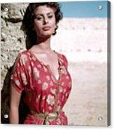 Sophia Loren, 1950s Acrylic Print by Everett