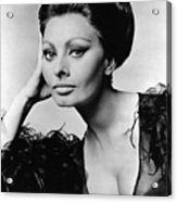 Sophia Loren, In Costume For Arabesque Acrylic Print