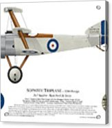 Sopwith Triplane Prototype - Side Profile View Acrylic Print