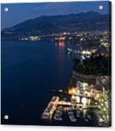 Sorrento Bay At Night Acrylic Print