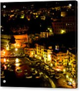 Sorrento Harbor At Night Acrylic Print