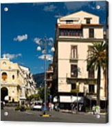 Sorrento Italy Piazza Acrylic Print