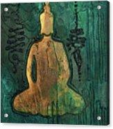 Sotapanna 1 Buddha Painting With Unalome Symbols Acrylic Print