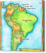 South American Independence Acrylic Print by Jennifer Thermes