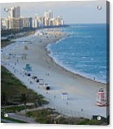 South Beach At Its Best Acrylic Print