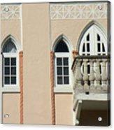 South Beach Balcony Acrylic Print