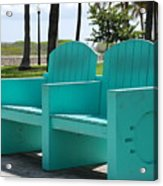 South Beach Bench Acrylic Print