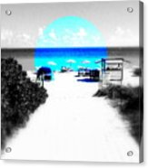 South Beach Blues Acrylic Print