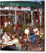 South Beach Cafe Acrylic Print