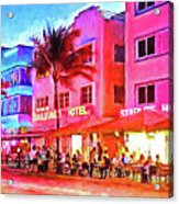 South Beach Neon Acrylic Print