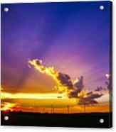 South Central Nebraska Sunset 008 Acrylic Print