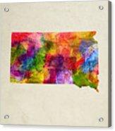 South Dakota State Map 02 Acrylic Print