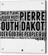 South Dakota Word Cloud 1 Acrylic Print