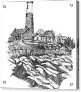 South Fork Lighthouse L I N Y  Bw Acrylic Print