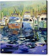 South Harbor Dawn Acrylic Print