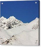South Island White Peaks Acrylic Print