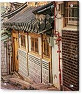 South Korean Hanok Street Acrylic Print