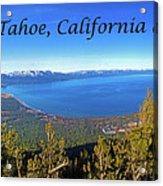 South Lake Tahoe, Ca And Nv Acrylic Print