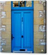 South Of France Rustic Blue Door  Acrylic Print by Georgia Fowler