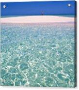South Pacific Sandbar Acrylic Print