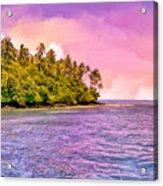 South Seas Sunset Acrylic Print