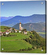 South Tyrolean Panorama Above Bolzano. Acrylic Print