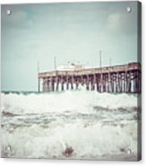 Southern California Pier Vintage 1950s Picture Acrylic Print by Paul Velgos
