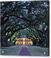 Southern Manor Home At Night Acrylic Print