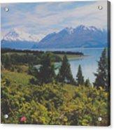 Southern New Zealand Lake Pukaki Acrylic Print