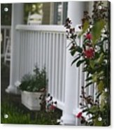 Southern Summer Flowers And Porch Acrylic Print