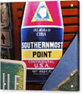 Southernmost Point Acrylic Print