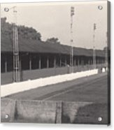Southport Fc - Haig Avenue - Old Main Stand - Bw - Early 60s Acrylic Print